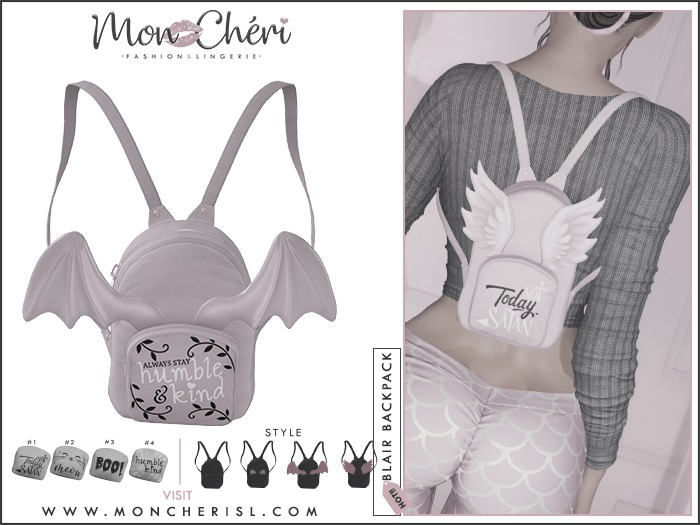 *Mon Cheri* Blair Backpack DEMO (add)