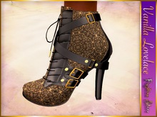 LOVELACE High Heel Ankle Boots STEAMPUNK (Maitreya)