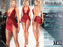 "Bella Moda: ""Cuore di Vetro"" Crimson Outfit - Fitted for Maitreya/Physique/Hourglass/Isis/Venus/Freya+Std Sizes - FULL"