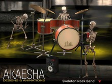 *- Akaesha's -* Animesh Skeleton Rock Band Box