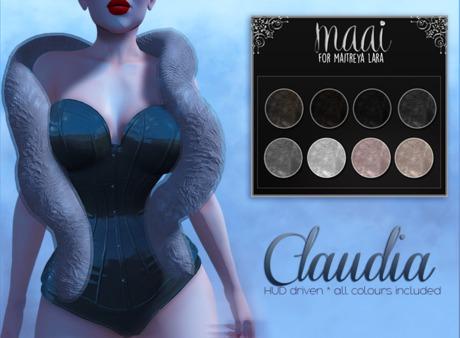 MAAI Claudia fur stole * HUD * Maitreya Lara