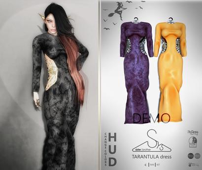 [sYs] TARANTULA dress (body mesh) - DEMO HUD