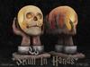 .: RatzCatz :. Skull in Hands Statue