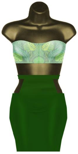 RML DETRA DRESS{BOM}{GREEN LEAVES V2}