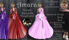 Continuum Amara Gown and accessories