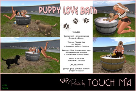 {TOUCH MIA} Puppy Love Bath