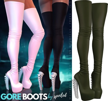 Spoiled - Gore Boots Army Green