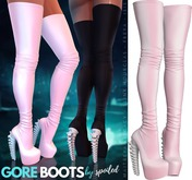 Spoiled - Gore Boots Baby Pink