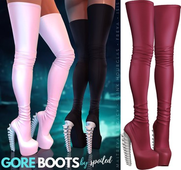 Spoiled - Gore Boots Red Wine