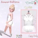 *Cherry Tot* Youth Kawaii Ballerina White (Wear&Click)