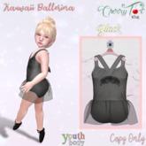 *Cherry Tot* Youth Kawaii Ballerina Black (Wear&Click)
