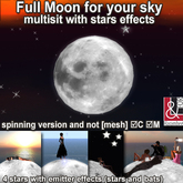 Mesh Moon for your sky w/stars effects