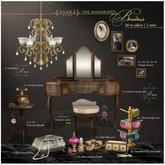 Zaara [home] : 6 Colonial vanity stool *royal purple*