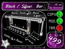 * New Club Bar SIlver / Black * Sit Menu 5 Bento Anim *
