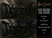 Dark Secrets - Wicca Backdrop, Sim Decor