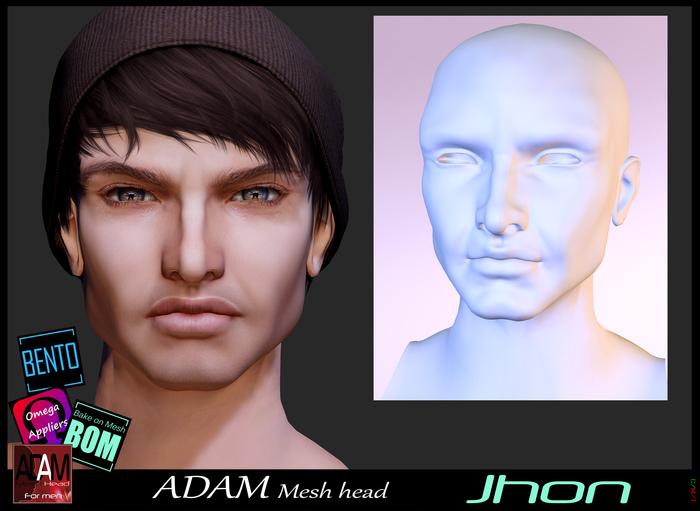 *!*Adam Mesh Head2- Jhon - BOM Bento -