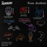 The Horror!~ Neon Aesthetic - Love You 3