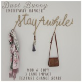 dust bunny . stay awhile entryway hanger . boxed