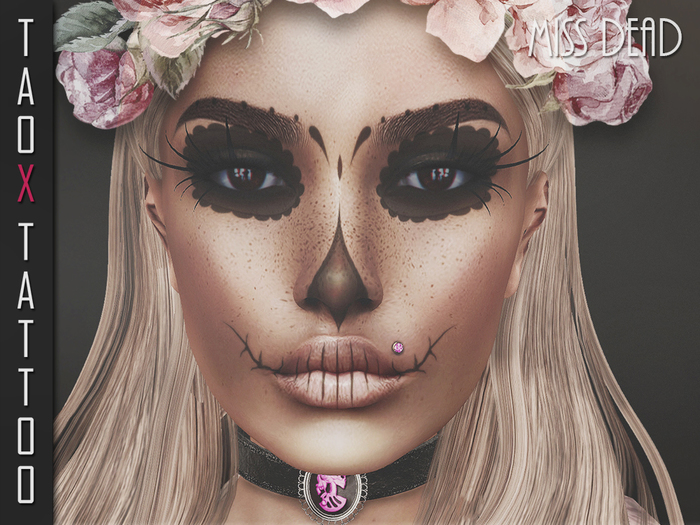 TAOX tattoo appliers only Face Miss Dead  VG