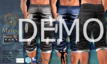 DEMO - ND - Marcus Male Capri Ripped Pants-All Mesh Bodies