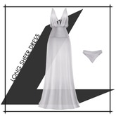 Lowen - Long Sheer Dress [White]