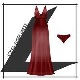 Lowen - Long Sheer Dress [Red]