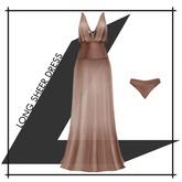 Lowen - Long Sheer Dress [Taupe]