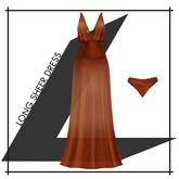 Lowen - Long Sheer Dress [Orange]