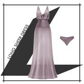 Lowen - Long Sheer Dress [Graylac]