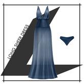 Lowen - Long Sheer Dress [Blue]