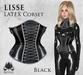 [ROSAL] LISSE Sculpted Latex Corset - Black