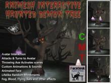 FaceDesk -Halloween Interactive Haunted Demon Tree Animated Animesh!