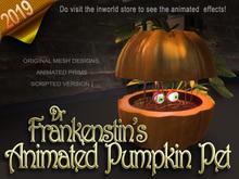 Dr Frankenstein's pumpkin pet