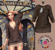 Dead Dollz - Maple Sweater - Choco