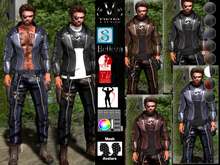 V-Twins Biker Clothes - Privateer Casual Outfit **MESH (Mesh Body Compatible)