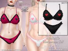 [ abrasive ] Delicate Underwear Set - Black