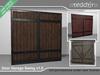 Garage swing door (gate) with 3 materials - Fullperm
