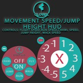 Clover - movement speed/jump height HUD (box)