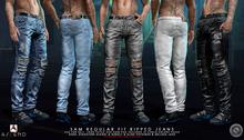 //Ascend// Sam Reg Fit Ripped Jeans - FATPACK