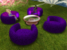 @ AC Lounge Box table 4 chairs neon purple