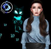 [inZoxi] - Kitsune Ghast - Neon Blue