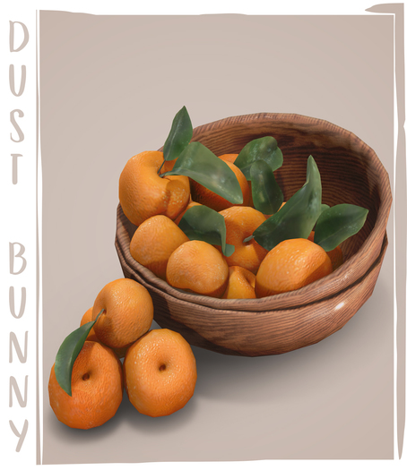 dust bunny . dwarf fruit trees . clementines . boxed
