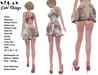 [CT] Pink Flowers Valentine outfit + Pink Stockings + Heel - 16 sizes - Maitreya - Belleza - Slink - Tonic - Ebody - TMP