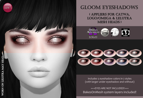 Izzie's - Gloom Eyeshadows (Gift)