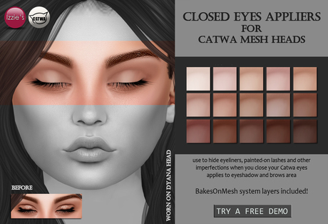 Izzie's - Catwa Closed Eyes Appliers