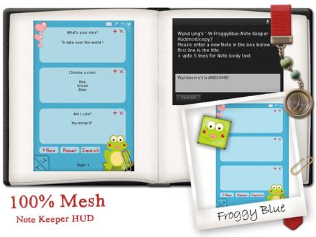 -W-[ Note Keeper HUD ] Froggy Blue