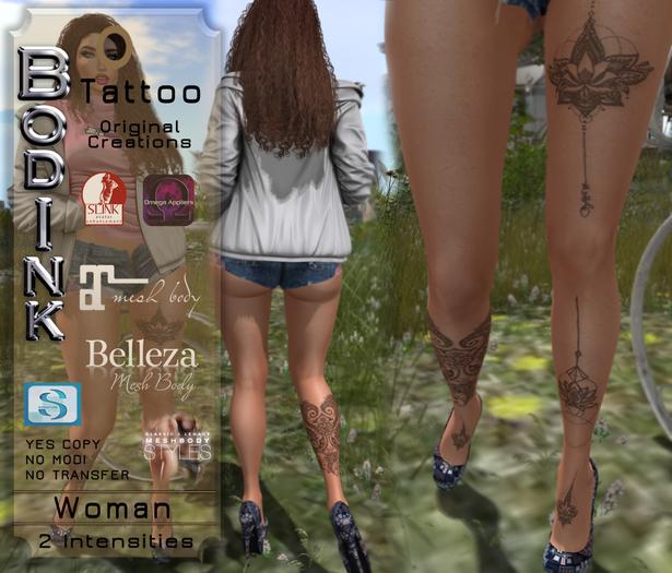 [BodInk] Mustela Tattoo -2Tones-