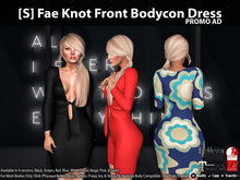 [S] Fae Knot Front Bodycon Dress Demo