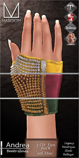 [[ Masoom ]] Andrea Bento- 3 Clr Funky Pack- Legacy, Lara, Belleza & Slink-