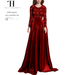 Thalia Heckroth - Nisha gown (MAITREYA) ROUGE